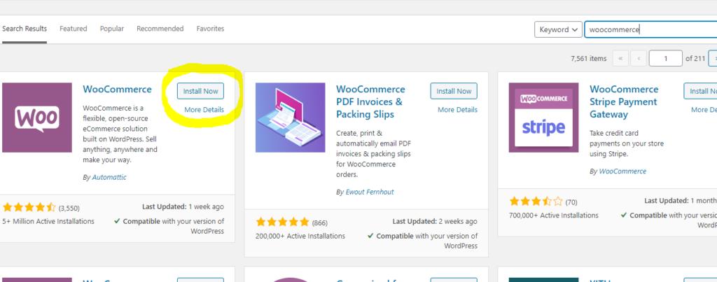 woo commerce installation 1 Fastest Way to Create Web Sites like NNU Forum, Wakanda, using WordPress